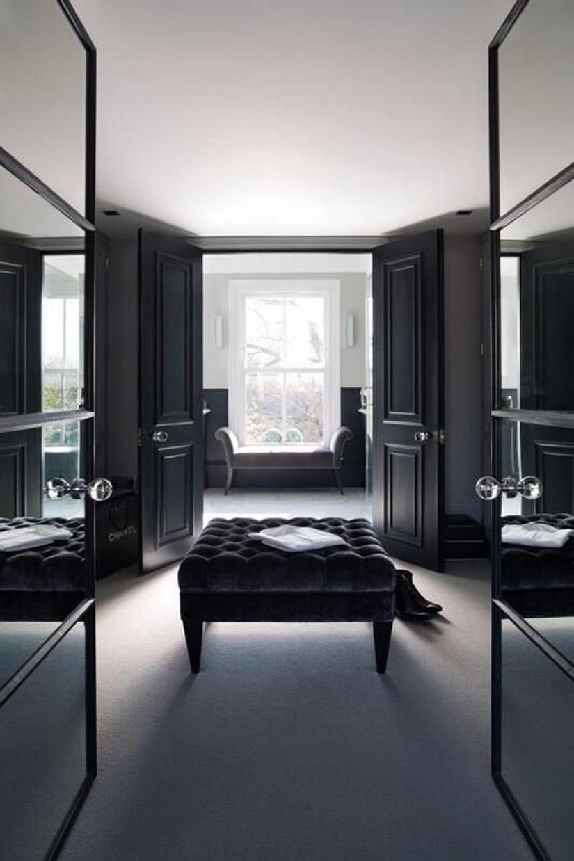 10 walk in closets for a luxury bedroom bedroom ideas for Black in interior design